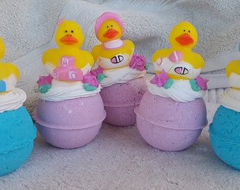 Bath Bomb Baby Shower Favors, Large quantity Baby Duck Bath Bomb,Favors, Baby Powder Scented,For New Mom,Bath Bomb Favors, Free Shipping