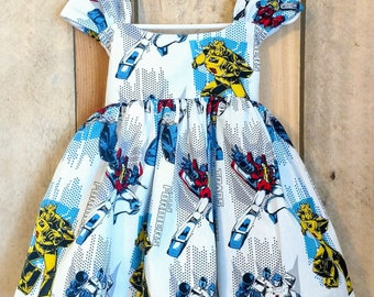 Transformers toddler dress,transformers baby dress,avengers baby dress,avengers toddler dress,spiderman dress,superhero dress,spiderman baby