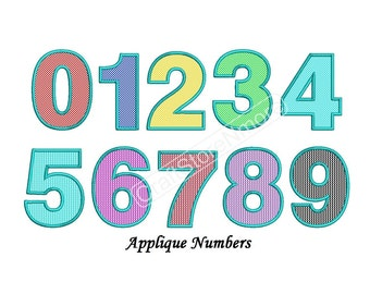 Applique Numbers Design - Applique Numbers Embroidery Design - 3,4,5 inch size instant download