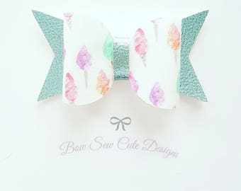 Ice cream summer girls bows/ turquoise bows/ girls bows/ summer bows/ girls hair bows