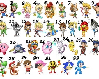 Super Smash Brothers Stickers