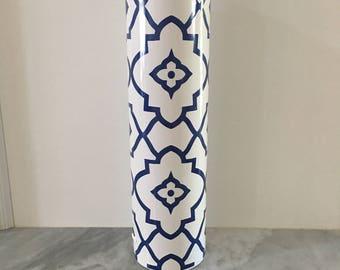 White & Blue Adobe Vase