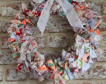 Handmade Cotton Rag Wreath