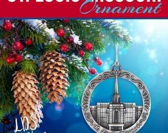 St. Louis Missouri Temple Ornament - LDS Temple