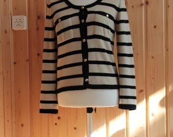 Vintage 1980's / vintage Chanel / Chanel Cardigan / cashmere sailor / small size