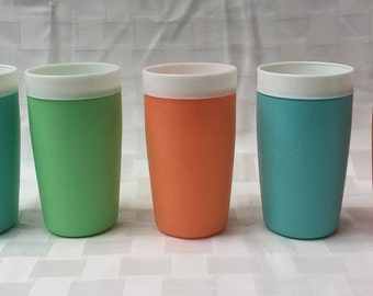 Vintage Bolero Therm-O-Ware Pastel Insulated Tumblers - Set of 5