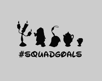 Squad Goals svg Beauty and the Beast Squad Goals svg Disney svg files for cricut svg for silhouette vector cut files svg dxf
