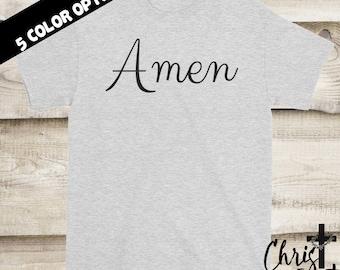 Amen Shirt, Christian Shirts, Religious Gift, Inspirational Gift, Faith Tees, Christian Clothing, Religious Shirts, Christian Tees, Amen Tee