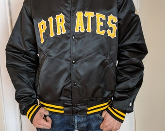 Vintage 1980's Diamond collection Pittsburgh Pirates Satin Starter Jacket-L