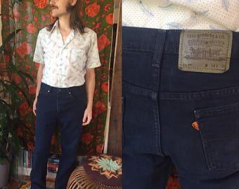 SALE ~ Levi's Orange Tab Dark Denim 70s Jeans Men's 34 x 30