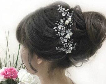 The pearl hair pins, wedding hair pins, barrettes for brides pins flower hair pins flower Bobby pins hair clips Wedding sets bride headdress