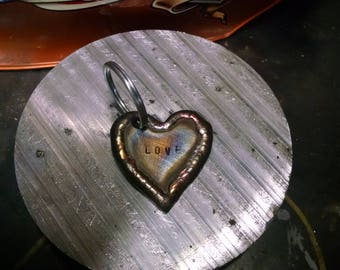 Stainless Heart Shaped Keychain Welded Stainless