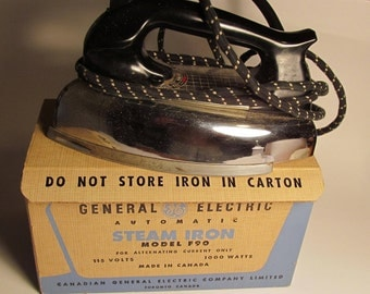 Vintage 1950's General Electric Iron with Original Box