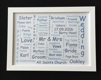 A4 Personalised Framed Prints
