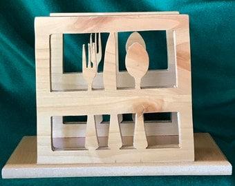 Finished Wood Napkin Holder, Gift Idea, Wedding, Housewarming, Bridal Shower, Birthday