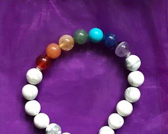 Howlite Chakra Bracelet