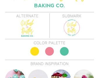 Branding Kit, Branding Package, Premade Branding Kit, Premade Branding Package, Logo Design, Premade Logo, Brand Identity - Bright + Bold