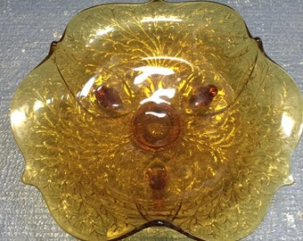 Amber Footed Bowl