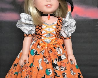 Halloween Witch Dress PATTERN for Wellie Wishers