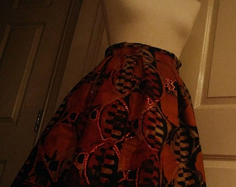 Ankara Skirt Knee length