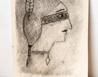 Aponivi - Print - woodblock rhenalon