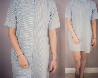 Blue Tee shirt dress tunic simple for women for teens casual short 2017 class beach vintage beautiful