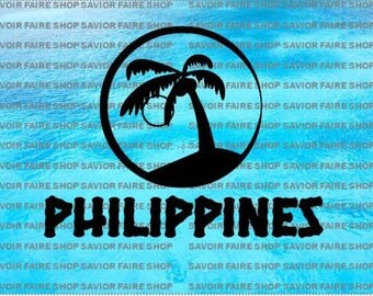 SVG Cut File Philippines Sunset