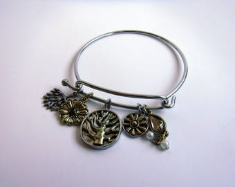 Tree of Life/Life is Beautiful Wire Bracelet