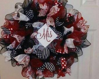 "16"" Custom Deco Mesh Wreaths"