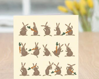 Shareware - Cute and Quirky Funny Bunnies Blank Card (Easter/Spring/Any Occasion)