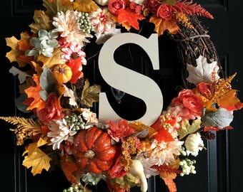 NEW FALL COLLECTION Fall Sparkle Pumpkin Wreath