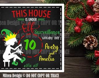 Elf Chalkboard, Christmas svg, Christmas Countdown, Cut File, SVG, DXF Cut Files, Cricut cut file, Vinyl Cut Files, Silhouette
