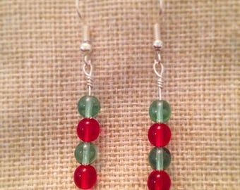 Handmade Glass Beaded Drop Earrings