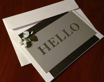 "Handmade ""Hello"" Card"