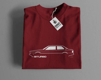 T-shirt Maserati Biturbo | Gent, Lady and Kids | all the sizes | worldwide shipments | Car Auto Voiture