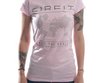 Women's CIRFIT Map Tee - Light Pink