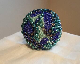 Multi-colored Decorative Beaded Ball