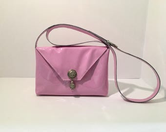 "Genuine patent leather cross-body bag - Small ""Doris"" purse - Everyday bag"