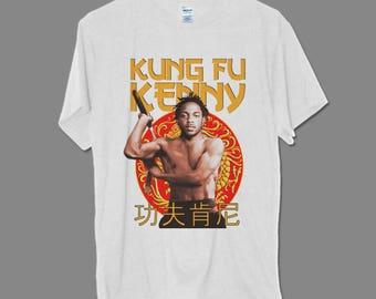Kung Fu Kenny Kendrick Lamar Bruce Lee Inspired Hip hop Rap tee GILDAN Tour T-shirt
