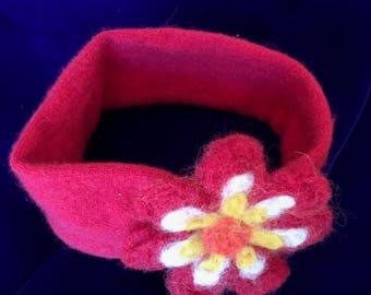 Cashmere Red Daisy Headband