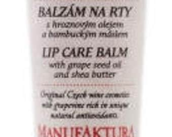 Softening Lip Balm with Grape Seed Oil and Shea Butter, Manufaktura - Czech origin, tradition, quality, natural material