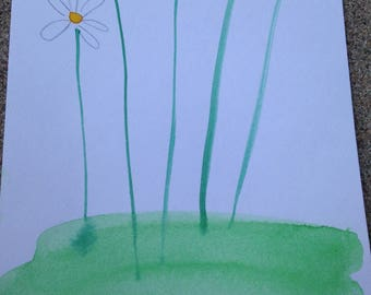 Daisy Watercolor Painting