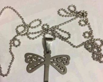 Butterfly Stainless Steel Necklace Gift-h55