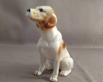 Fine Porcelain Hand Painted Hound/Hunting Dog Figurine
