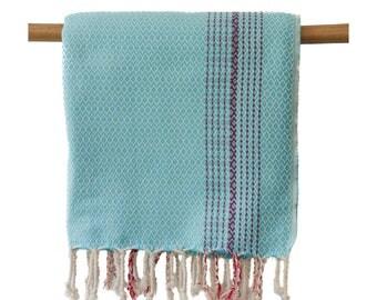 Free Shipping CLEO Turquoise Turkish Towel Peshtemal