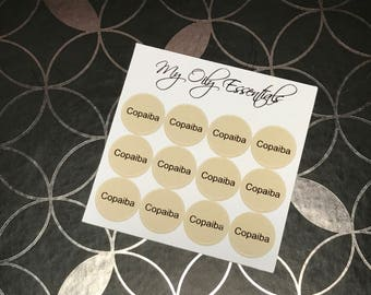 Copaiba | Essential Oil | Bottle Cap Label