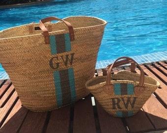 Mummy & Daughter Basket Bags