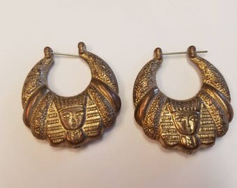 Vintage Earrings with Egyptian Design