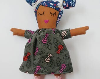 Paisley Crowe Cutie rag doll, Rag Doll, Doll, Cotton doll, Cloth doll, Keepsake