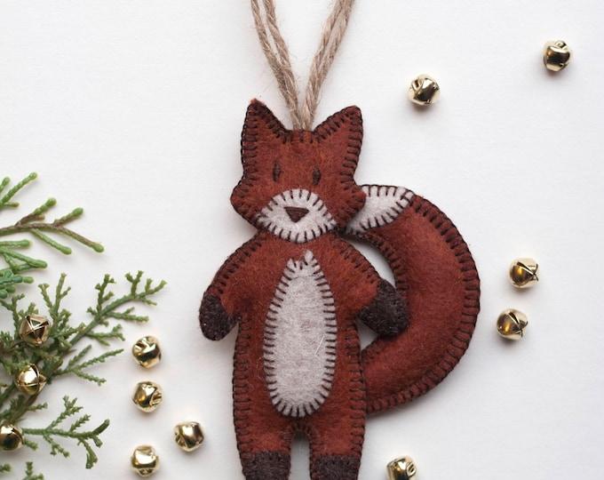 Fox Christmas Ornament - Brick